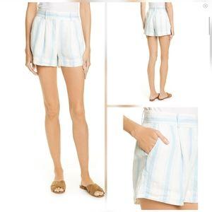 Frame Fine Stripe Linen Shorts